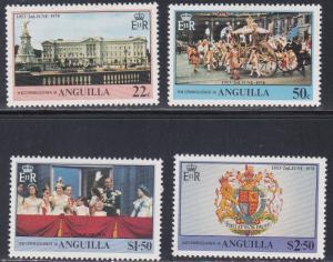 Anguilla # 315-318, Queen Elizabeth Coronation 25th Anniversary, NH, 1/2 Cat.