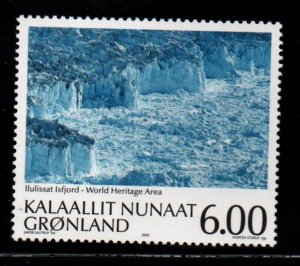 Greenland Scott 443 2005 Ilulissat Ice Fjord stamp mint NH