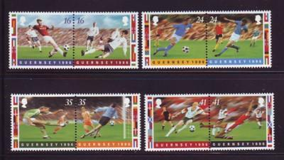 Guernsey Sc 566-9 1996 Soccer Championships stamps mint NH