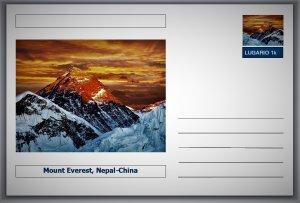 Landmarks - Mount Everest, Nepal-China postcard (glossy 6x4card) #2