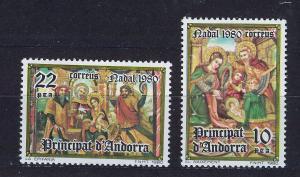 ANDORRA SPANISH 1980 MNH SC.124/125 Christmas