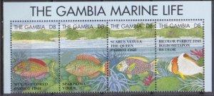 1995 Gambia 278-81strip Sea fauna 13,00 €
