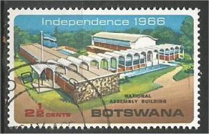 BOTSWANA, 1966, used 21/2c, National Assembly Building, Scott 1