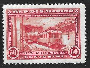 San Marino #140 50c San Marino-Rimini Electric Railway ~ MHR