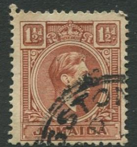 Jamaica -Scott 118 - KGVI Definitive -1938 - Used - Single 1.1/2p Stamp