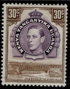 KENYA UGANDA TANGANYIKA GVI SG142, 30c dull purple & brown, M MINT.