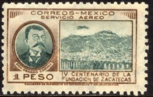 MEXICO C164, $1P 400th Anniversary of Zacatecas. MINT, NH.. F-VF.