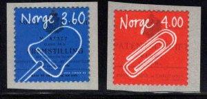 Norway Scott 1213-1214 MNH**1998 Invention set