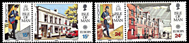 Isle of Man 418-421, MNH, Europa Mailmen and Post Offices