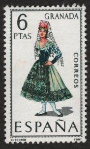 Spain 1968 Regional Women Costumes Granada 6p. Scott.1411 (#2)