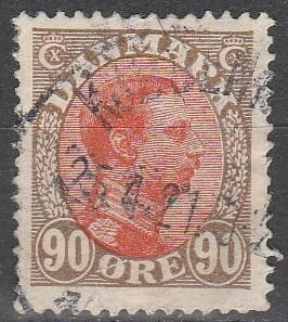 Denmark #127  F-VF Used  CV $5.25  (V2819)