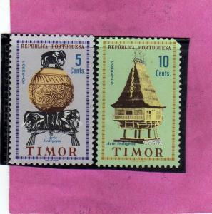 TIMOR PORTUGAL 1956 POTTERY LOCAL HOUSE POTERIE HABITATION CERAMICHE CASE SU ...