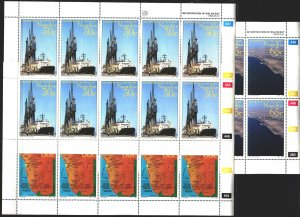 Namibia. 1994. l 768-70. Ship, harbor crane, map of Namibia. MNH.