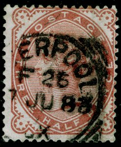 SG167, 1½d venetian red, USED. Cat £60.