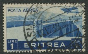 Eritrea - Scott C11 - Air Post -1936 - Used - Single - 1l Stamp