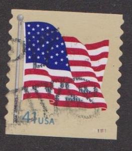 US #4186 U.S. Flag Used PNC Single plate #P11111