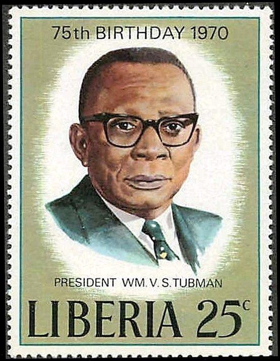 LIBERIA - 1970 - PRESIDENT - TUBMAN - 75th BIRTHDAY - MINT - MNH - SINGLE!