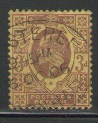 Great Britain Sc 132 1902 3d  dull purple Edward VII stamp used