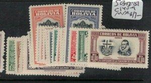 Bolivia SC 342-57, C145-9 MNH (5ecg)