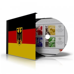 GERMANY [WEST-BRD] STAMP ALBUM PAGES 1949-2011 (308 color illustrated pages)