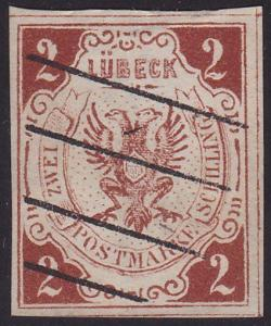 GERMANY LUBECK An old forgery of a classic stamp............................2177