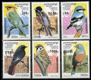 1997 Cambodge 1684-1689 Birds 18,00 €