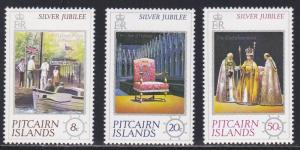 Pitcairn Islands # 160-162, Queen Elizabeths Reign 25th Anniversary NH, 1/2 Cat.
