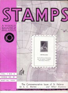 Stamps Weekly Magazine of Philately May 26, 1934 Stamp Collecting Magazine