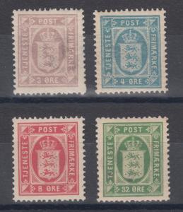 Denmark Sc O6-O9 MNH. 1975 Officials, complete set, F-VF