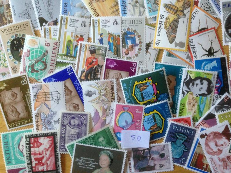 50 Different St Helena Stamp Collection