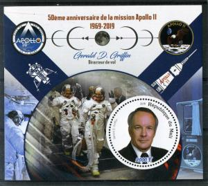 SPACE Apollo 11 Gerald D.Griffin s/s Perforated Mint (NH)