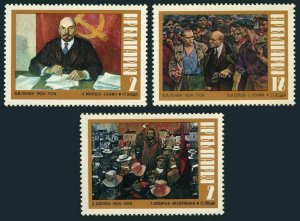 Bulgaria 2155-2157,MNH.Michel 2316-2310. Vladimir Lenin,Demeter Blagoev,1974.