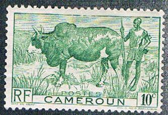 Cameroun 304 MH Zebu and herder (BP5420)