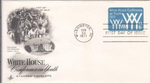 1971, White House Conference on Youth Stamped Envelope, Artcraft, FDC (E7696)