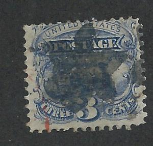 114 Used 3c. Pictorial, Fancy Star Cancel & Red CDS
