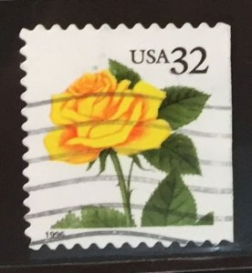 US #3049 Used F/VF - Yellow Flower 32c