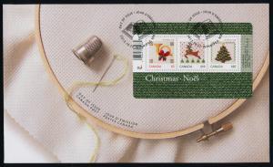 Canada 2687 on FDC Christmas Tree, Reindeer, Horn