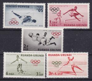 Ruanda-Urundi B26-30 1960 Olympic Games