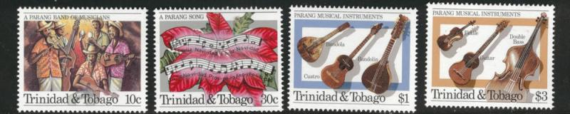 Trinidad & Tobago Scott 419-422 MNH** Music set CV$6.75
