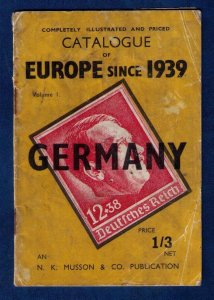 Germany 1939-1945 - Scarce H.R.Harmer Stamp Catalogue - War Period: F-VF