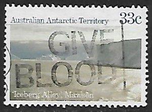 Australian Antarctic Territory # L67 - Iceberg Alley - Used....(KlBl9)