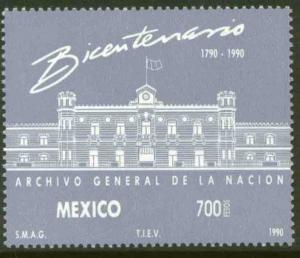 MEXICO 1643, Bicentennial of the National Archives. MINT, NH. F-VF.