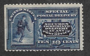 E5 MNH,  10c. Special Delivery,  scv: $475, FREE INSURED SHIPPING
