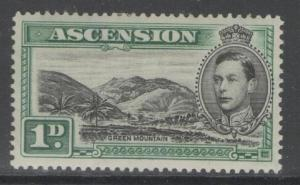 ASCENSION SG39 1938 1d BLACK & GREEN p13½ MTD MINT
