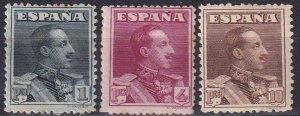 Spain #342-4  F-VF Unused   CV $143.00 (Z1541)