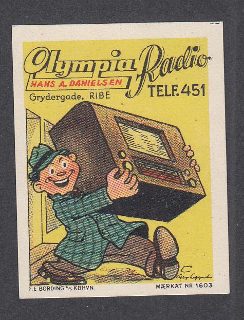Denmark Poster Stamp  OLYMPIA RADIO