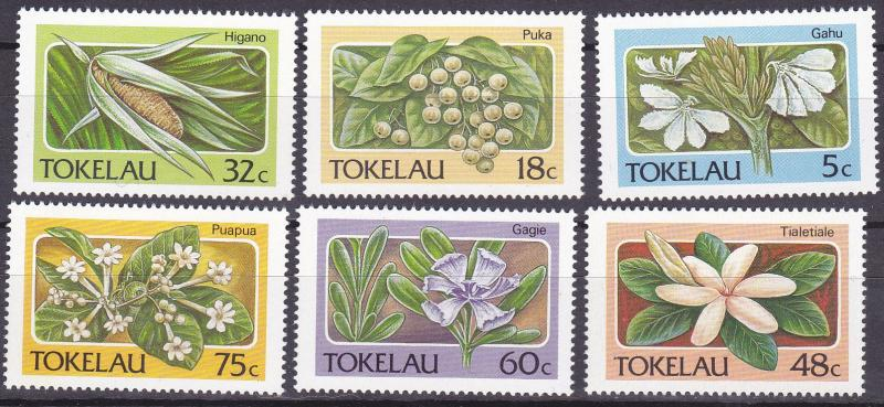 TOKELAU 1987 Flora UHM set
