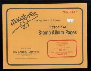 2005-2006 White Ace US Regular Issue Stamp Album Simplified Supplement USR-35