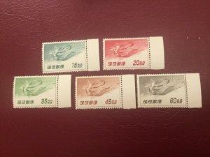 ICOLLECTZONE US Ryukyu C9-13 VF NH Nice set!