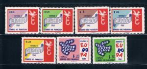Paraguay 623-29 MNH set Europa 1961 (P0075)
